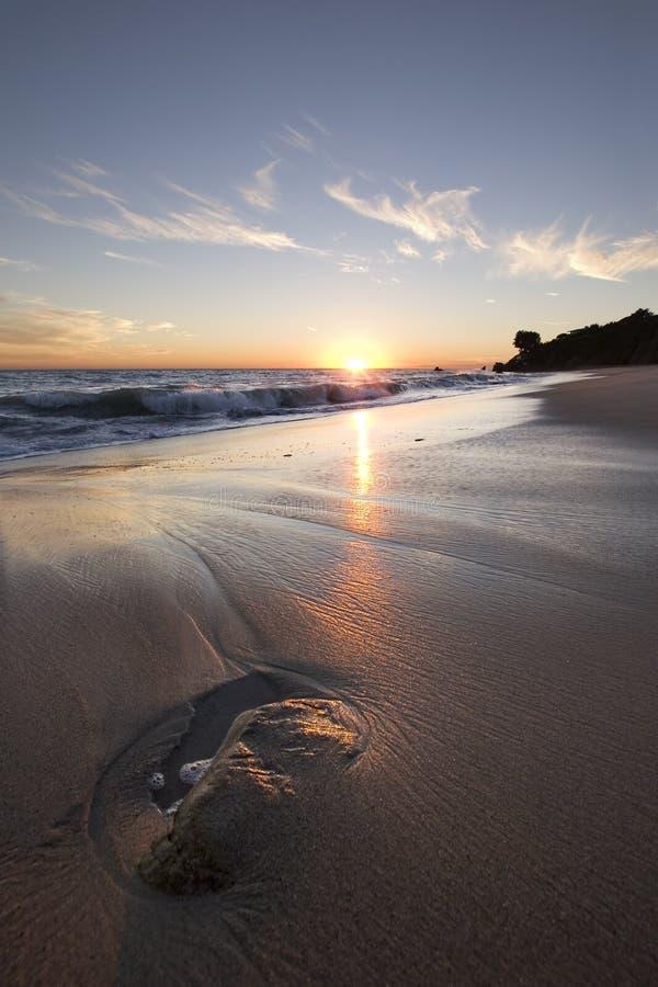 Malibu Sonnenuntergang lizenzfreie stockfotos