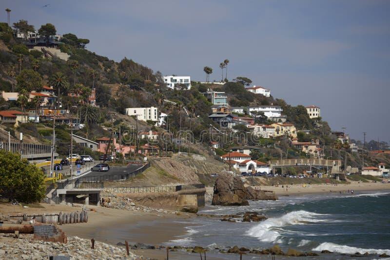 Malibu strand Kalifornien arkivbild