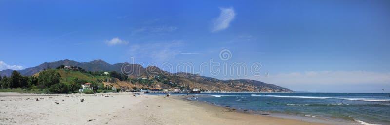 Malibu Strand-Panorama stockfotografie