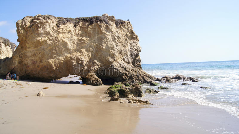 MALIBU, UNITED STATES - OCTOBER 9, 2014: Beautiful and romantic El Matador State Beach in Southern California.  royalty free stock photography
