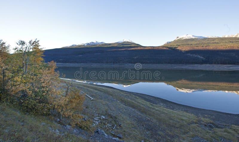 Maligne湖反射 库存图片