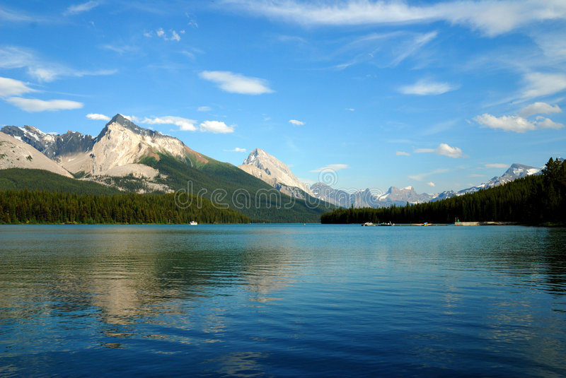 Maligne Lake stock photo