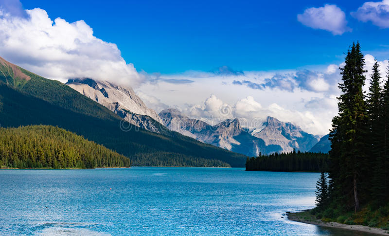 Maligne Lake, Jasper royalty free stock photo