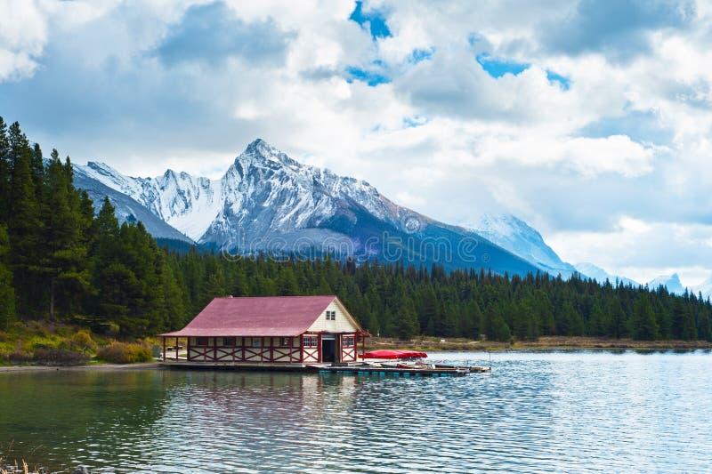 Maligne See, Jasper National Park, Jaspis, stockbild