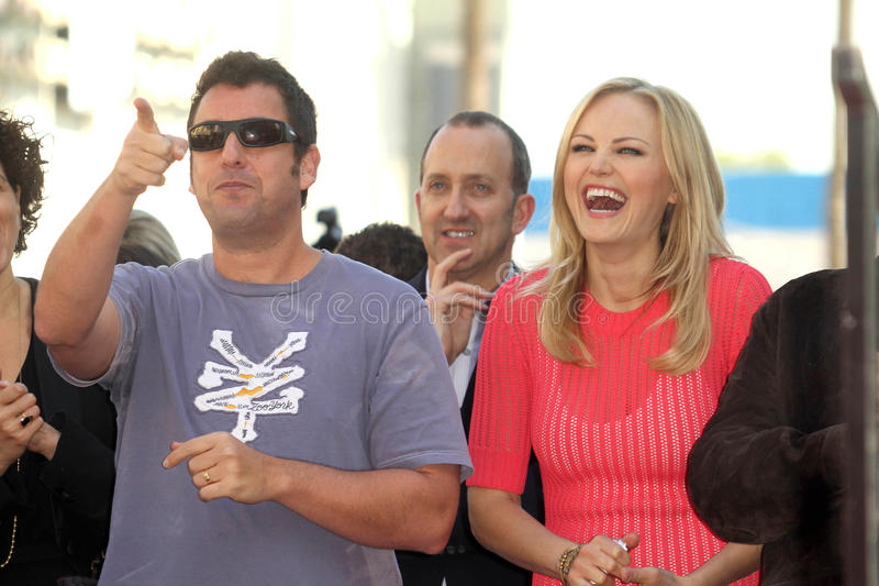 Malin Akerman, Jennifer Aniston, Adam Sandler stock foto