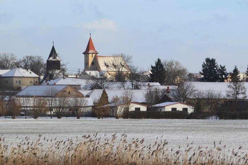 Malin in de winter royalty-vrije stock foto's
