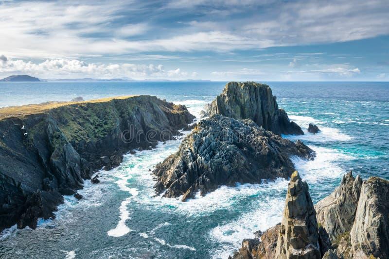 Malin Head Sea Cliffs foto de archivo libre de regalías