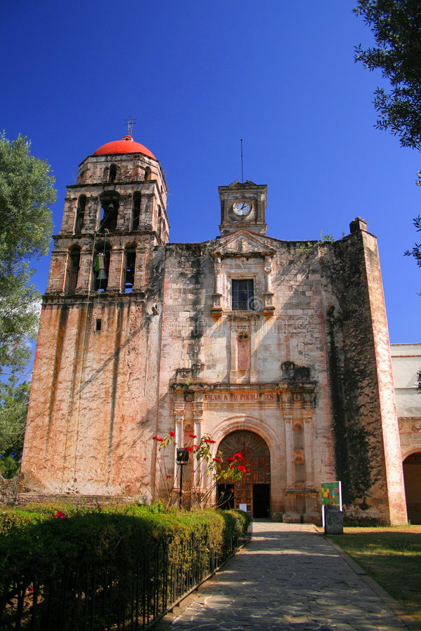 Malinalco convent royalty free stock photos
