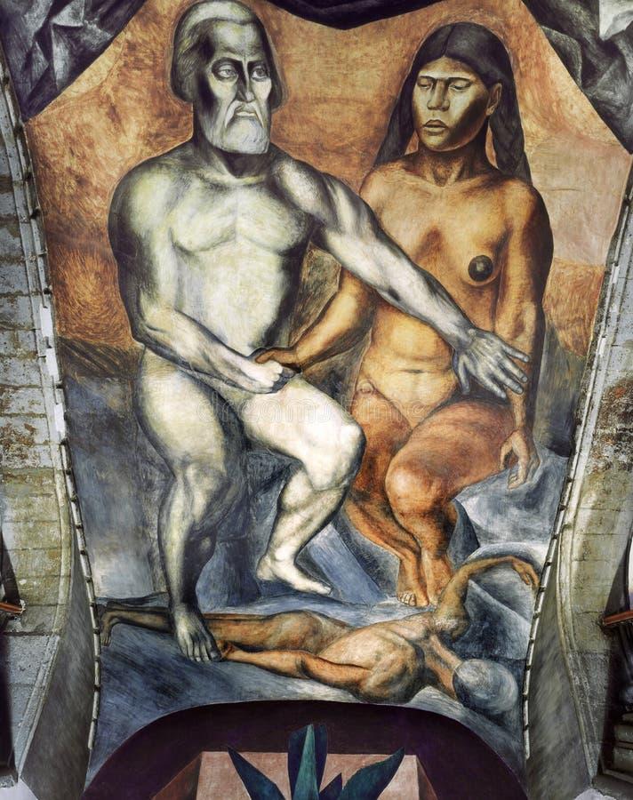 Malinche y Cortes imagen de archivo