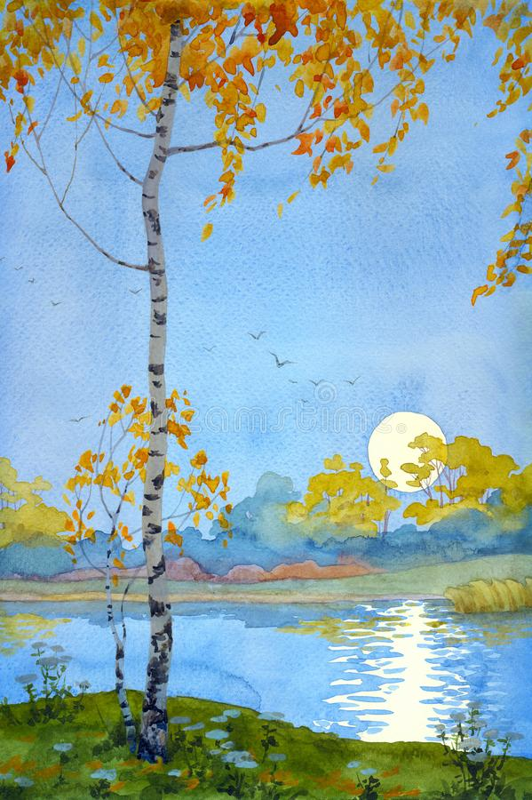 Malinconia di autunno illustrazione di stock