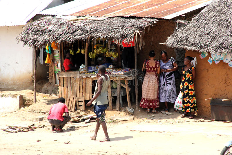 Malindis Straße stockfoto