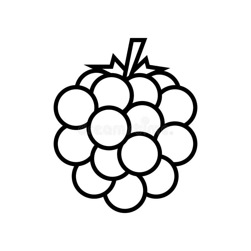 Malinka, czernicy kreskowa ikona Graficzni elementy dla tw?j projekta ilustracja wektor