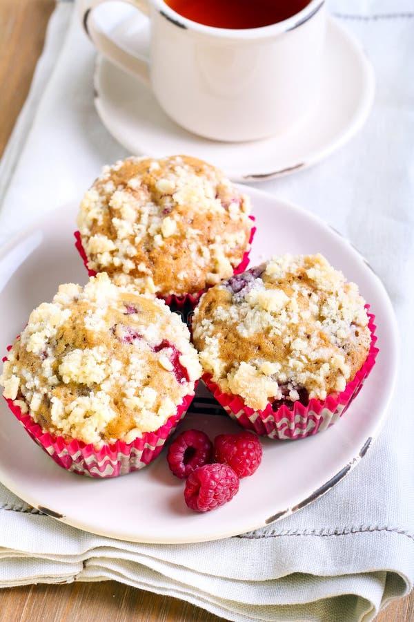 Malinka rozdrobni muffins zdjęcie royalty free