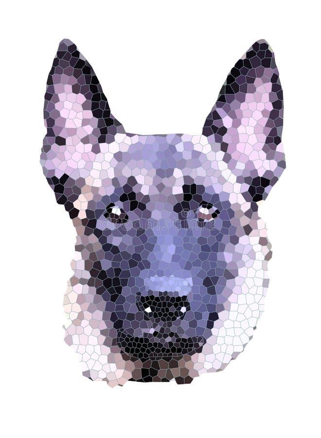 Malinois hundkonst vektor illustrationer