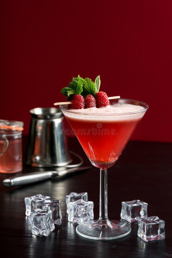 Malinowy Martini koktajlu kosmopolityczny napój zdjęcia stock