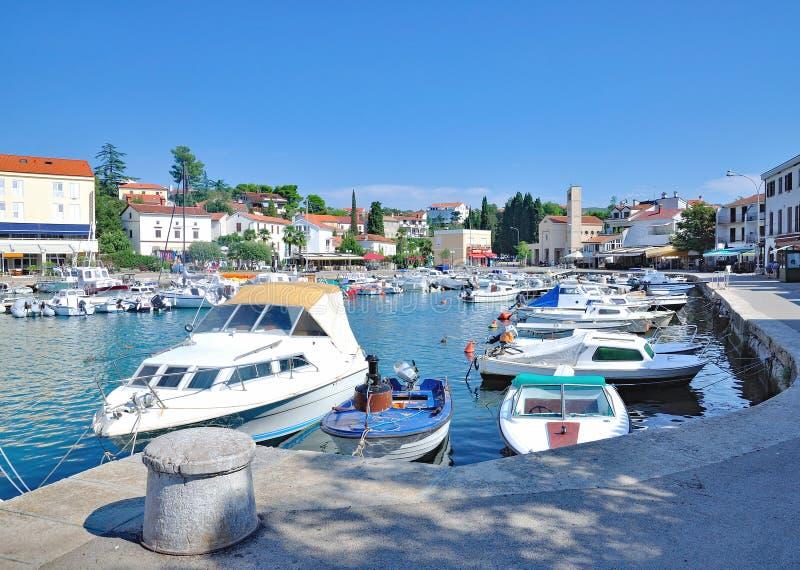 Malinska-Dubasnica,Krk Island,adriatic Sea,Croatia. Harbor of Malinska-Dubasnica on Krk Island at adriatic Sea,Kvarner,Croatia stock images