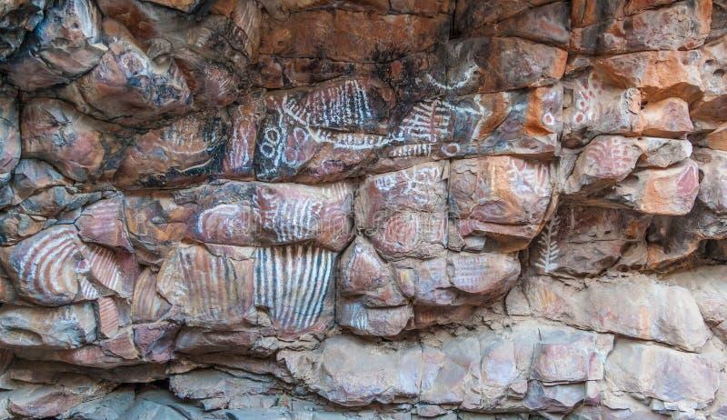 Malkawi obrazu tubylczy miejsce. Flinders pasma. Południe Austral zdjęcie royalty free