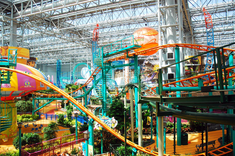 Mall of America Indoor Amusement Parks royalty free stock photography