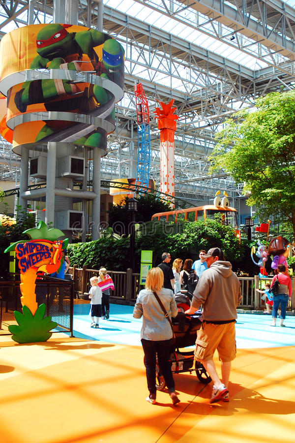 Mall of America. The Mall of America, the largest shopping mall in the USA, offers an indoor amusement park along with retail shopping royalty free stock images