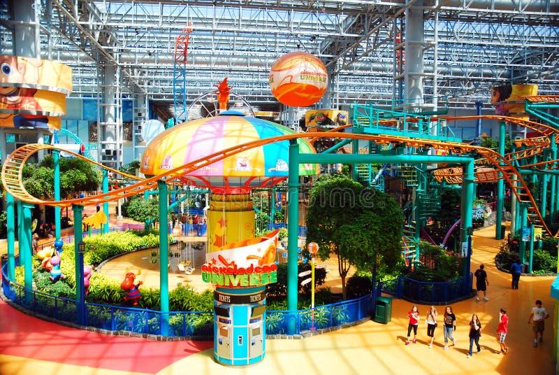 Mall of American Indoor Amusements. An Indoor Amusement Park in Minnesota`s Mall of America in Bloomington stock photo