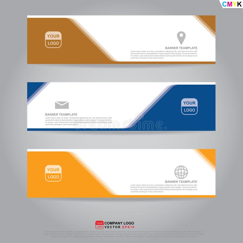 Mall av banret, broschyren, reklambladet och kortkupongen för titelrad vektor illustrationer