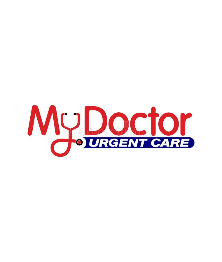 Mall av den medicinska logoen royaltyfri illustrationer