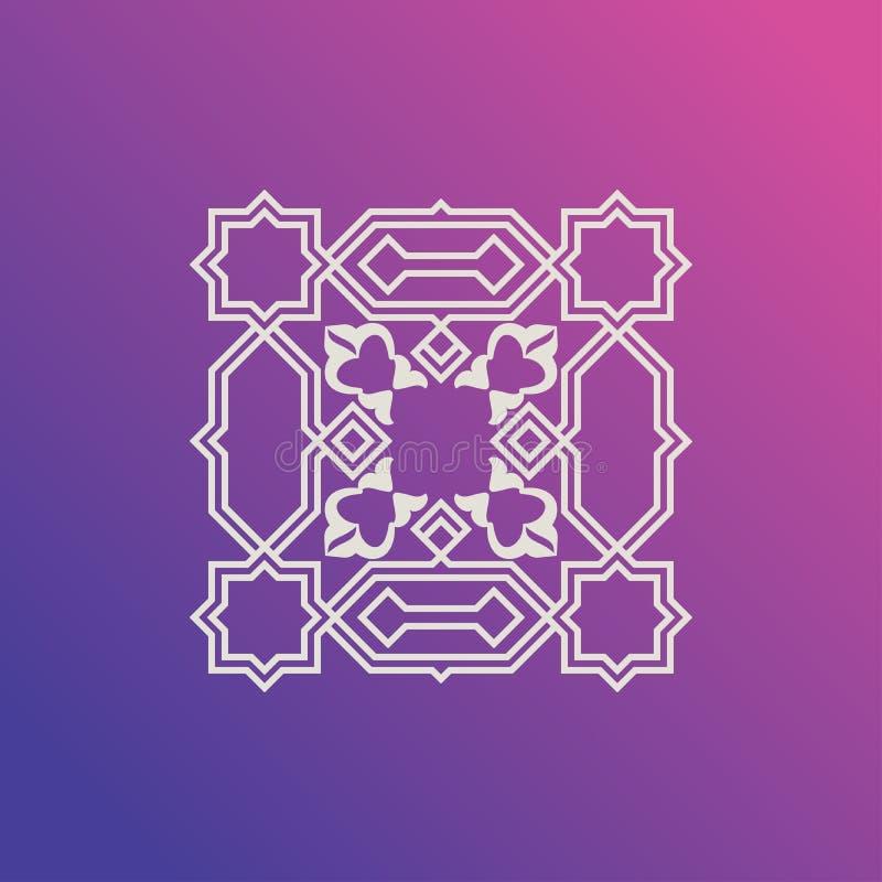 Mall av en upprepande bild Prydnad motiv, på en moderiktig bakgrund royaltyfri illustrationer