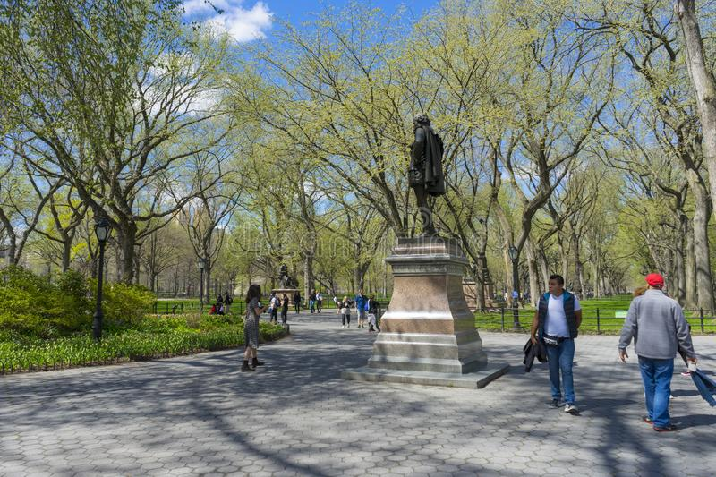 The Mall in Central Park in Manhattan, New York City stock photography