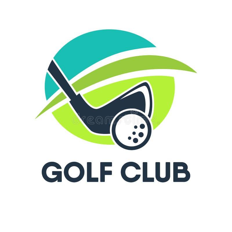 Mall eller symbol för golfklubbhuslogo för turnering stock illustrationer