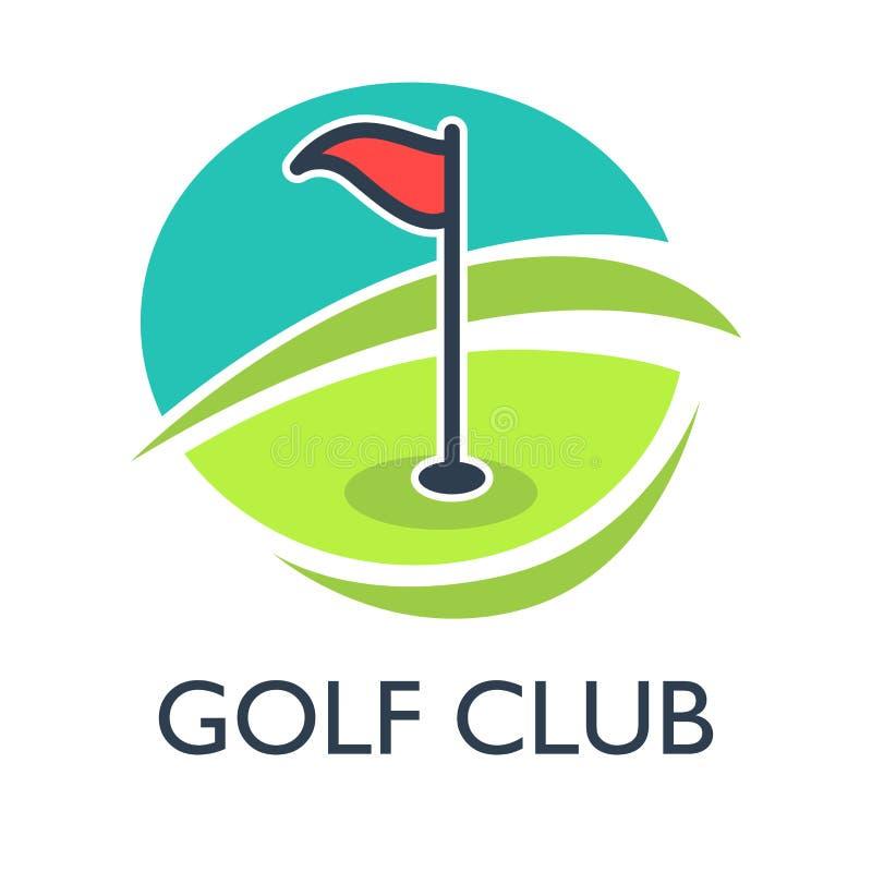 Mall eller symbol för golfklubbhuslogo för turnering royaltyfri illustrationer
