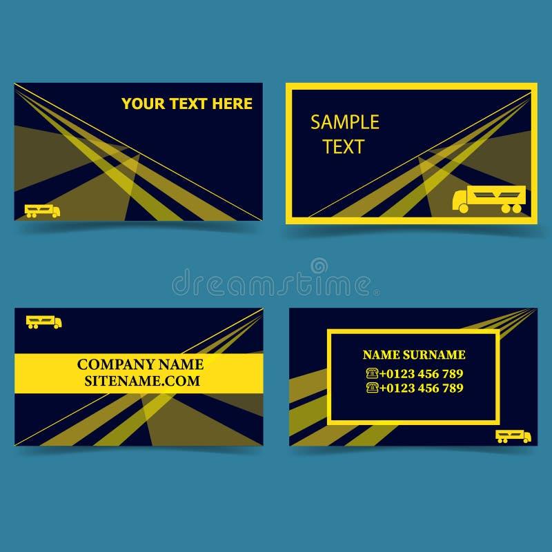 Mall-för-affär-transport-affär-affär-kort-modern-design royaltyfri illustrationer