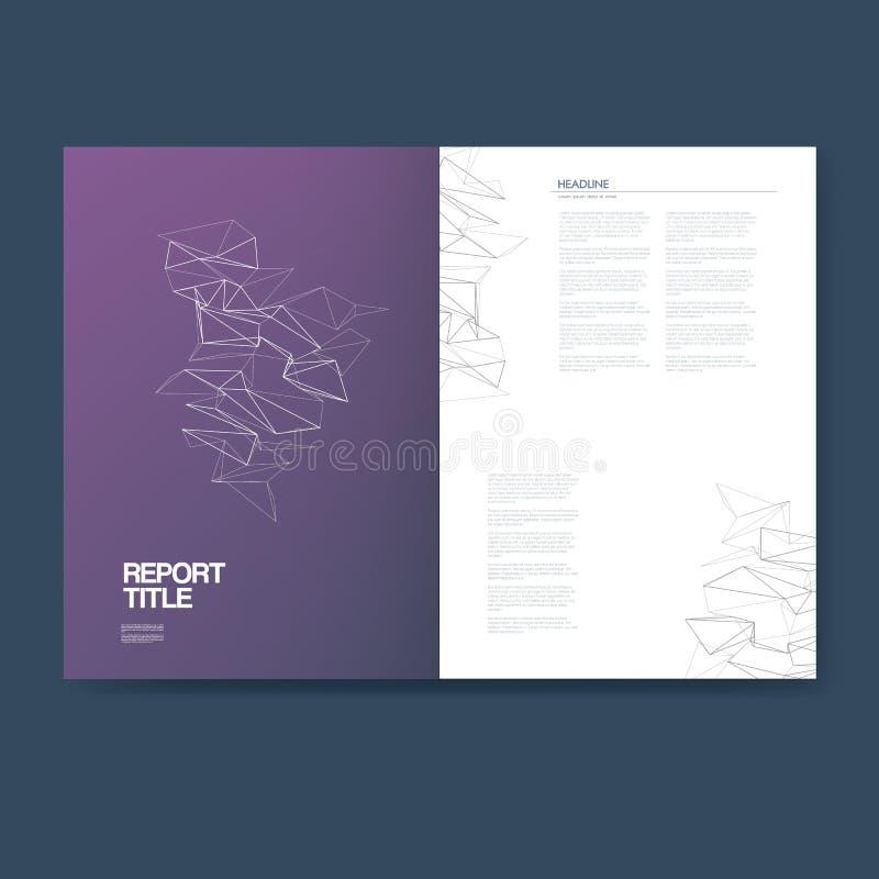 Mall för affärsrapport med infographicsbeståndsdelar för grafer för för företagsstrukturpresentation och analys, diagram stock illustrationer