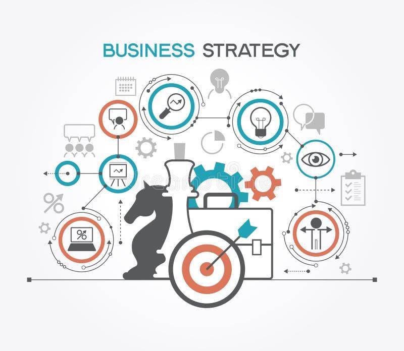 Mall för affärsstrategi stock illustrationer