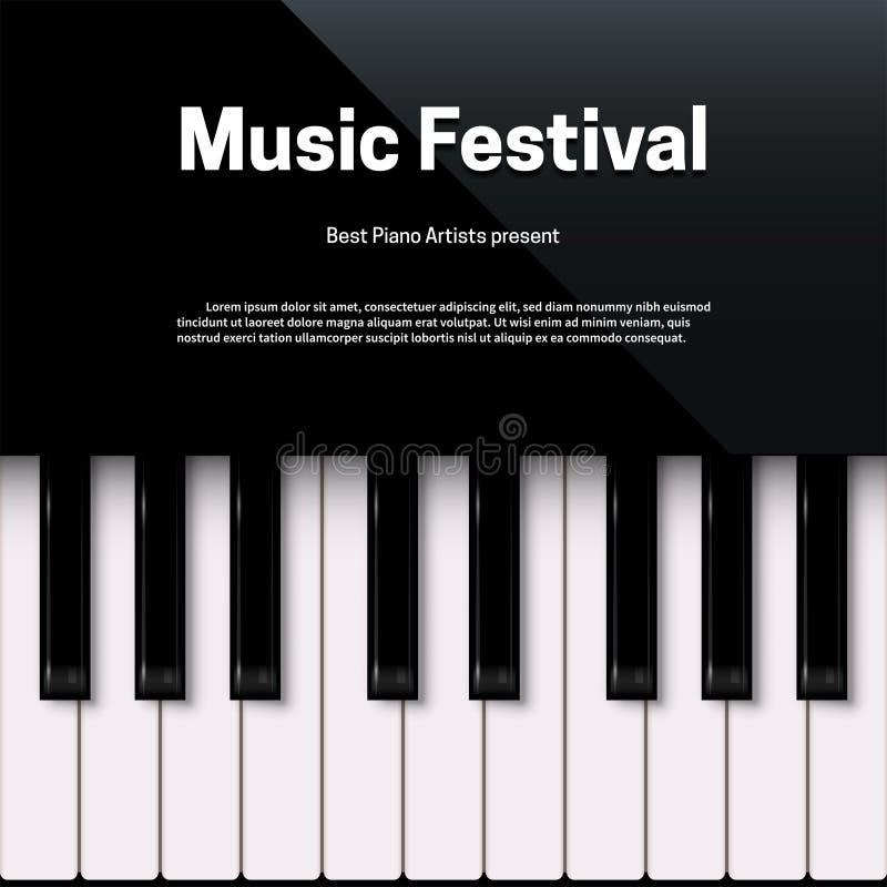 Mall för affisch för musikfestival med textutrymme stock illustrationer