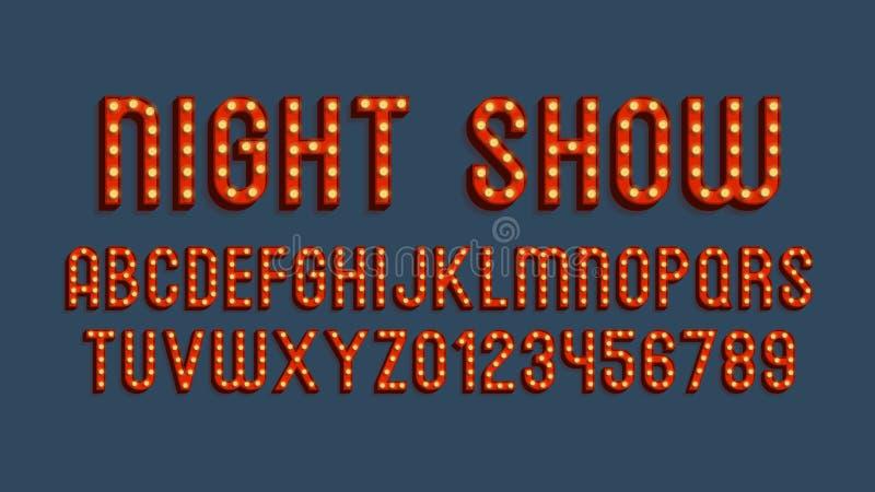 Mall för alfabet 3d för vektor Retro arkivfoto