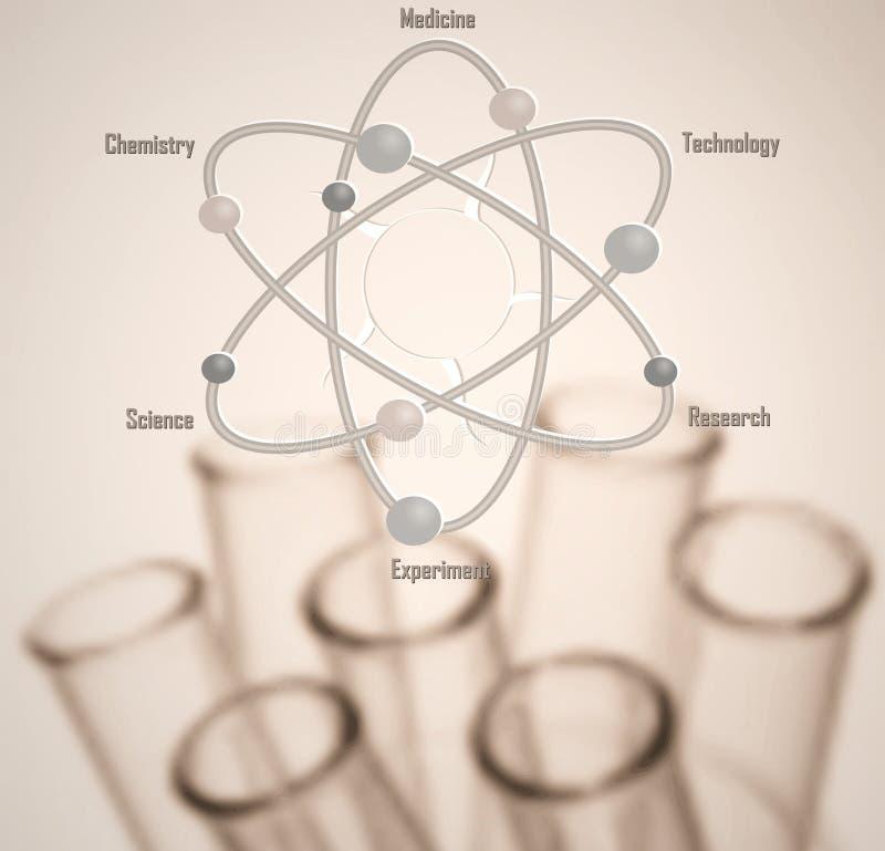 Mall för bakgrund för kemiforskning begreppsmässig royaltyfri foto