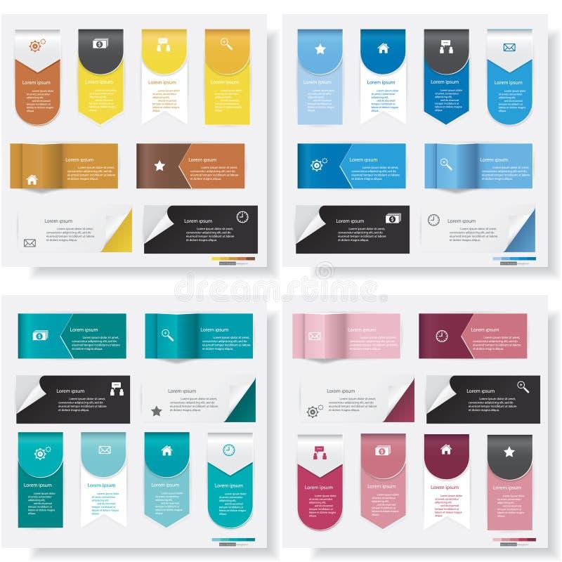 Mall för baner för designrengöringnummer vektor illustrationer