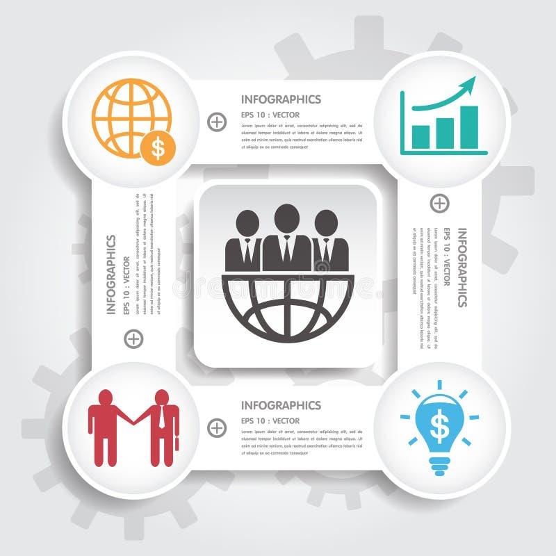 Mall för baner för designrengöringnummer/diagram- eller websiteorientering royaltyfri illustrationer