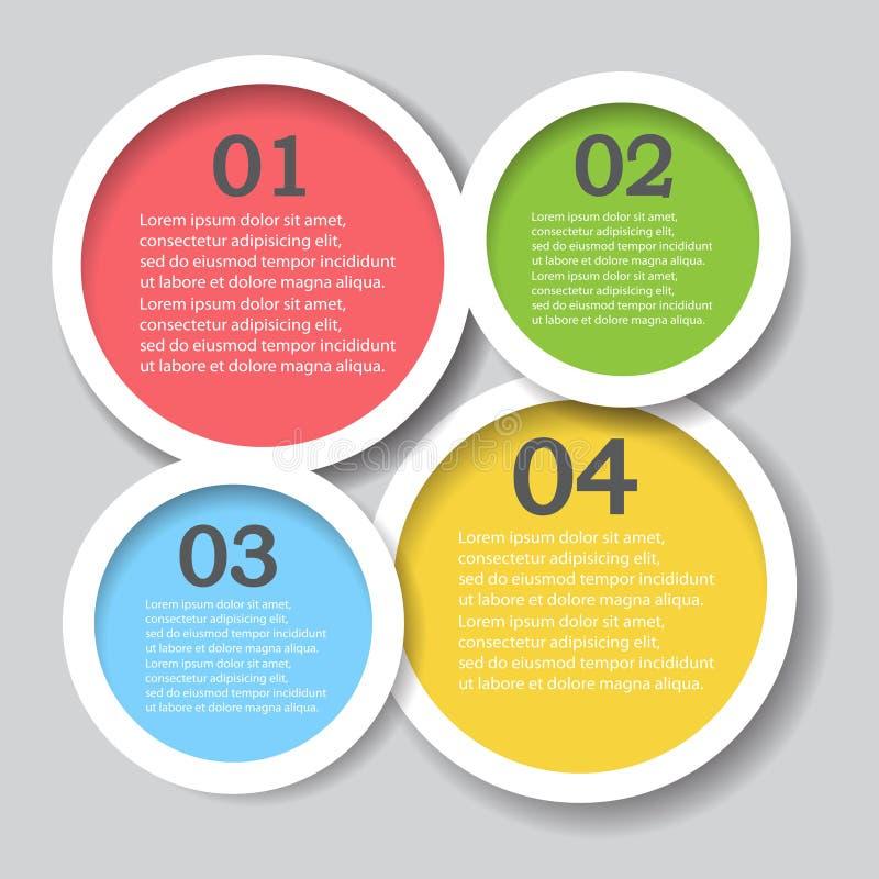 Mall för baner för designrengöringnummer, diagram eller websiteorientering royaltyfri illustrationer