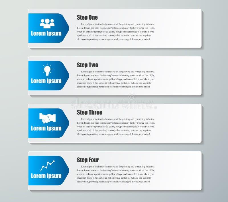 Mall för baner för designrengöringnummer Grafisk eller websiteorientering vektor illustrationer