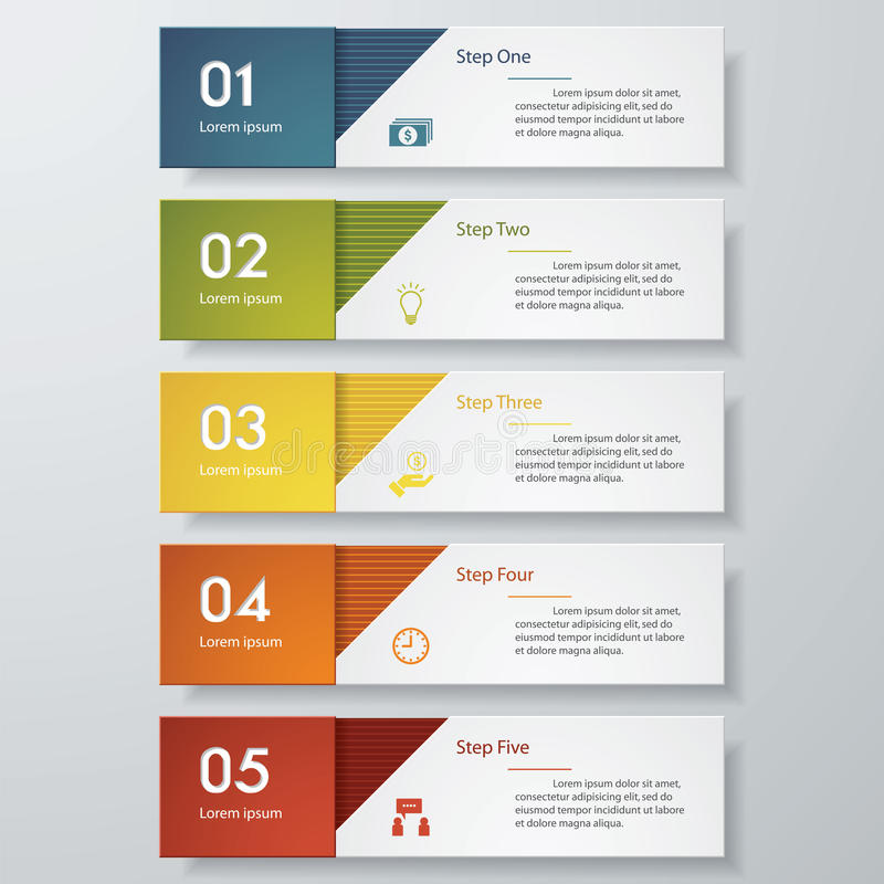 Mall för baner för designrengöringnummer vektor stock illustrationer