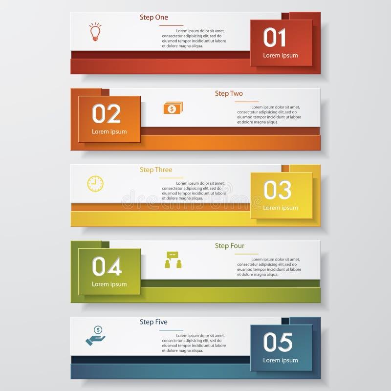 Mall för baner för designrengöringnummer vektor royaltyfri illustrationer