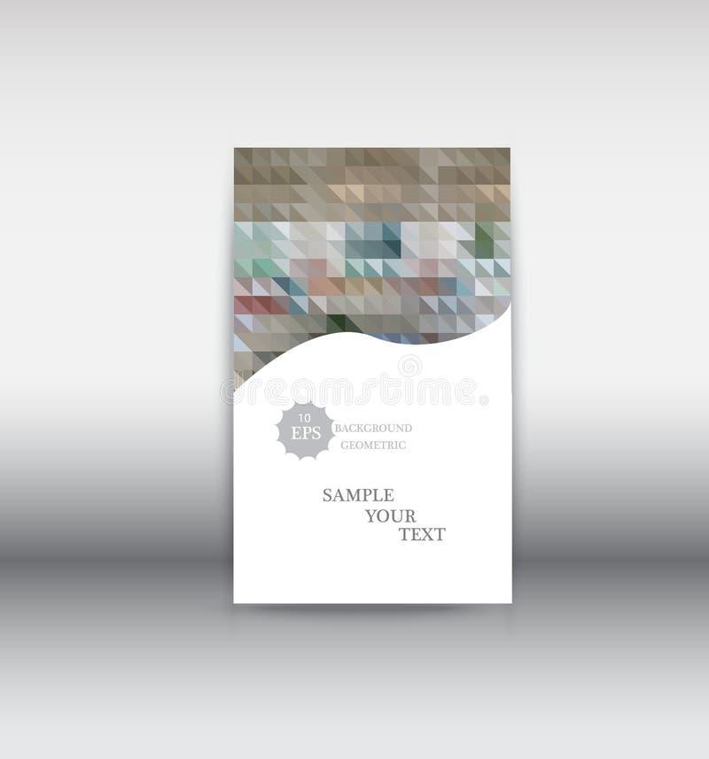 Mall för baner för rengöringsduk för vektorabstrakt begreppdesign Beståndsdelar för rengöringsdukdesign - titelraddesign Abstrakt stock illustrationer