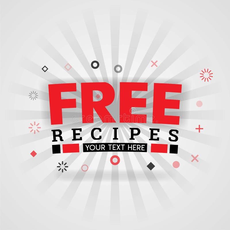 Mall för bok för räkning för fria matrecept röd Vara kan bruk för mat som annonserar affischen och reklambladet, den sociala mass royaltyfri illustrationer
