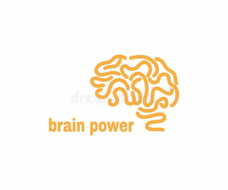 Mall för Brain Logo designvektor royaltyfri illustrationer