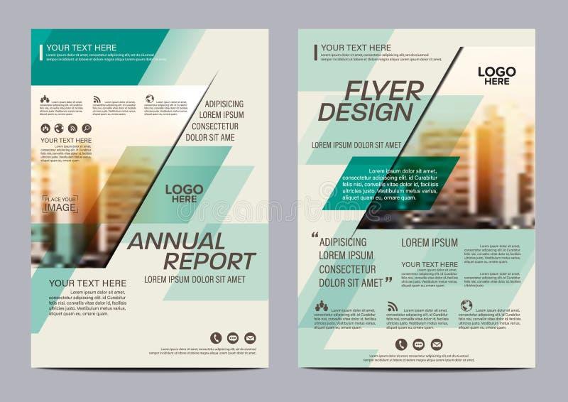 Mall för broschyrorienteringsdesign Bakgrund för presentation för räkning för årsrapportreklambladbroschyr modern illustration i  royaltyfri illustrationer