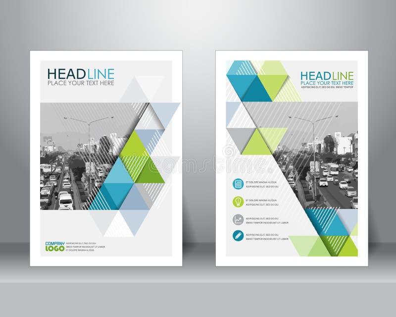 Mall för broschyrreklambladdesign vektor royaltyfri illustrationer