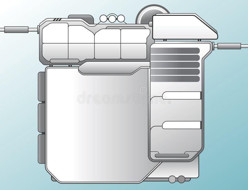 mall för c-designlokal stock illustrationer