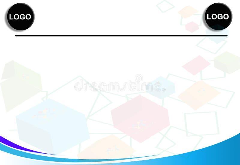 Mall för charter för blått för advertizingreklamblad vektor illustrationer