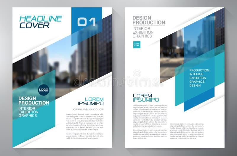 Mall för design a4 för affärsbroschyrreklamblad vektor illustrationer